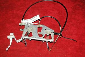 66 67 FAIRLANE RANCHERO ORIGINAL FORD HEATER CONTROLS & CABLES & SWITCH VERY NIC