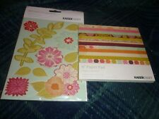 "KAISERCRAFT HIPPY GIRL COLLECTION 6"" PAD & PRINTED CHIPBOARD SHEET NEW"