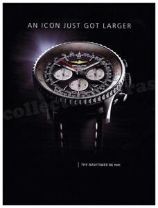BREITLING Navitimer 46mm mens watch advertisement A4 size high quality print