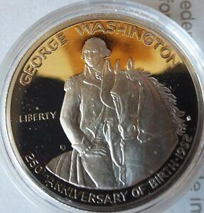 1982 S Proof George Washington 90% Silver Commemorative Half Dollar OGP Box/COA