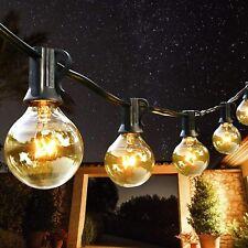 More details for 50/100ft outdoor festoon globe string fairy lights plug in bulbs garden wedding