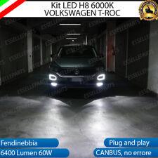 KIT FULL LED VW T-ROC T ROC LAMPADE H8 FENDINEBBIA CANBUS 6000K 100% NO ERROR