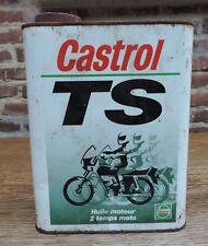 Rare Ancien Bidon Huile Castrol TS bidon Vide Moto Collection Déco Garage