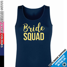 Ladies Bride Squad Vest • Tank Top Hen Night Girls Night Out Secret Santa Gift