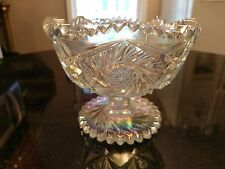 Gorgeous Opalized  Rainbow Iridescent Glass Candy Dish or Compote