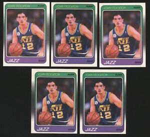 Lot (x5) 1988-89 Fleer JOHN STOCKTON Rookie RC #115 Utah Jazz