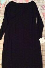 Ingrid & Isabel Maternity Dress, Stretch Floral Lace, Black, Medium Nwt New