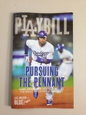 """Dodgers Playbill """"Pursuing the Pennant"""" Carl Crawford"""