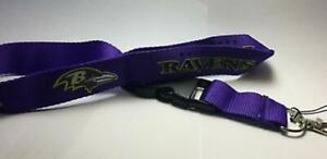 Baltimore Ravens Lanyard ID Badge Key Chain Clip Face Mask Holder Strap Saver