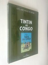 Archives Tintin au Congo Hergé ETAT NEUF sous cello jamais ouvert