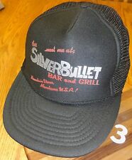 VINTAGE SILVER BULLET BAR & GRILL MOUNTAIN VIEW MONTANA USA SNAPBACK HAT VGC