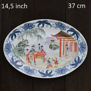 A large very fine chinese porcelain platter with figure scenes 20th century