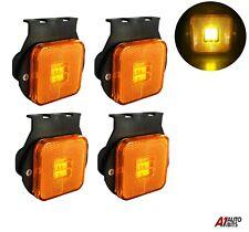 "4x 2.55"" 4 Led Side Marker Indicator For Lights Truck Trailers Amber Lamps 24v"