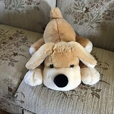 FAO SHWARZ Plush DARBY Light Brown & Tan laying flat DOG puppy 22""