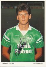 Sigi Mauerhofer   FC ST.Gallen  Fußball Autogrammkarte signiert 365765