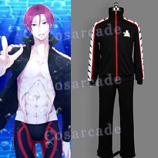 Gratis! - Iwatobi Swim Club Rin Matsuoka Juegos con disfraces Disfraz Uniforme Conjunto Chaqueta Traje