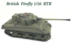 Radio Remote Control RC Tank 2.4G British Sherman Firefly 1/16 with 4 Sounds UK