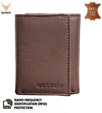 Para hombres Cuero Billetera soporte de identificación de tarjeta RFID protegido Triple Con Caja De Regalo Reino Unido Stock