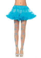 Leg Avenue Let It Snow spandex sheer glitter Snowflake pantyhose Halloween Item