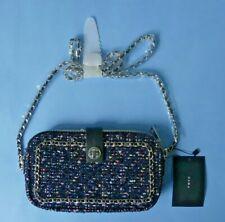 ZARA SHINY TWEED SHOULDER CROSSBODY BAG ~ NAVY BLUE / MULTI ~ NEW WITH TAGS
