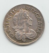 More details for 1676 silver threepence 3d - charles ii