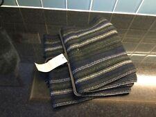 George Mens Navy Black Grey Striped Design Scarf NEW + Tag Present Gift