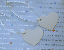 Wedding Heart tags with ribbon.Wishing trees.Quality Ivory card 300 gsm