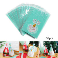 Santa Claus Self-adhesive Plastic Cookies Pack Xmas Candy Bags Christmas Gifts