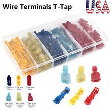120X NEW Wire Terminals T Tap Scotch Lock Splice Male Spade Connector Scotchlock