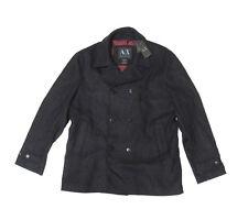 Armani Exchange A|X Mens Heavy Italian Fabric Wool Slim Fit Pea Coat Jacket XL