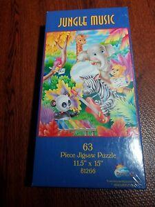 New Sealed Jungle Music 63 Piece Kids Jigsaw Puzzle by SunsOut (USA SHIPS FREE)