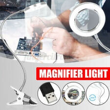 Desk Clamp Magnifier 8X Magnifying Lighted Beauty Salon Jewelry Reading Lamp AU