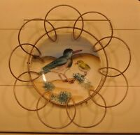 RELCO Bird Decorative Plate Made in Japan with Metal Plate Hanger