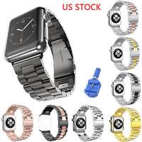 US Stainless Steel Link Band for Apple Watch Series 4 3 2 1 Strap Belt Bracelet