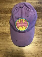 Girls Purple Batman Baseball Hat
