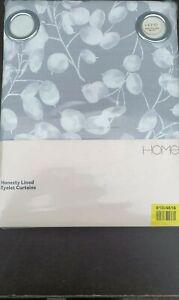 Honesty Grey 66x90 Eyelet Curtains CHEAPEST ON EBAY