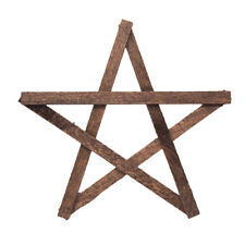 Five Point Wooden Star, Made in the Usa, 13-Inch
