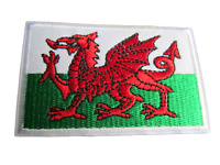Wales National Patriotic Red Dragon St.David Flag Sew Iron on Embroidered Patch