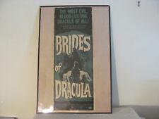 """BRIDES OF DRACULA"" PETER CUSHING 1960 ORIGINAL POSTER"