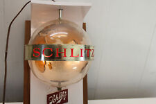 Single Vintage 1968 Schlitz Spinning Globe Lighted Wall Sconce Sign