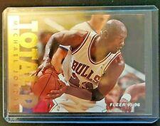 '95-'96 Fleer Michael Jordan 'Total D' card # 3 of 12 Chicago Bulls HOF Legend