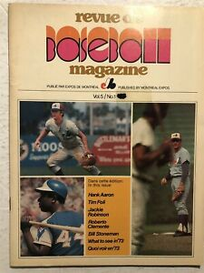 1972 MONTREAL EXPOS Revue de Baseball FOLI Jackie ROBINSON Hank AARON Clemente