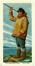 RED ROSE TEA CARD, SERIES: THE ARCTIC, ESKIMO FISHERMAN
