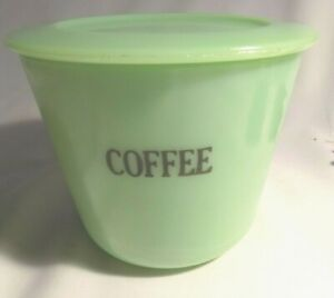 McKee Jadite 40 OZ Coffee Canister with perfect lid 1931