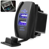 3.1 A LED Dual USB Car Fast Power Supply Charger Port Socket 12V-24V Unversal