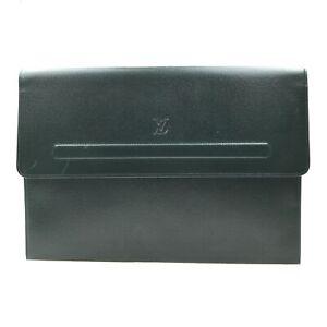 100% Authentic Louis Vuitton Taiga Posh Papier Green M64338 [Used] {09-0423}