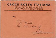 CROCE ROSSA ITALIANA COMITATO REGIONALE BARI- XI CENTRO MOBILITAZIONE