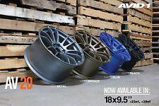 GENUINE AVID1 AV20 18x9.5 +22 5x114.3 JDM wheels rims concave STi Evo GTR S15