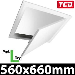 Timloc 1169 White Loft Hatch Insulated Hinged Drop Down Access Trap Door Part L