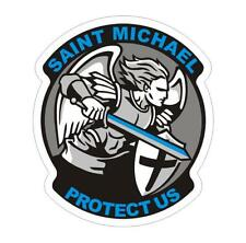 Thin Blue Line Saint Michael Police Officer Decal Sticker #199 Buy 3 Get 1 Free